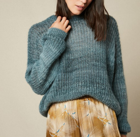 Hartford Knitted Pullover - Ocean Blue