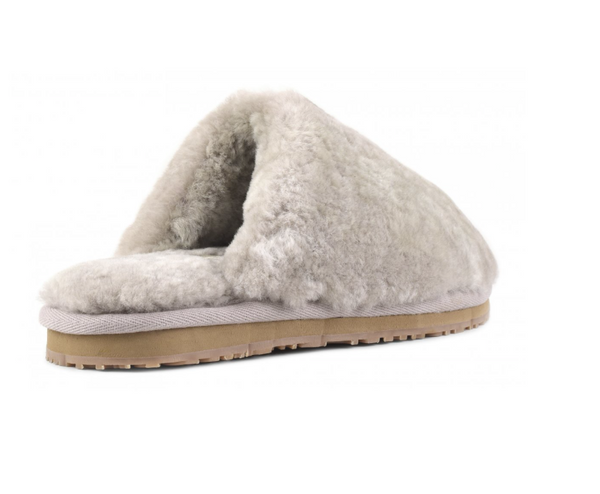 Mou Sheepskin Mule Slippers - Light Grey