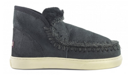 Mou Boots Eskimo Sneaker - Crackled Black