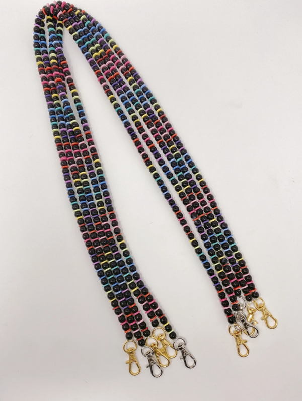 Alix Mask Chain - Black/Rainbow