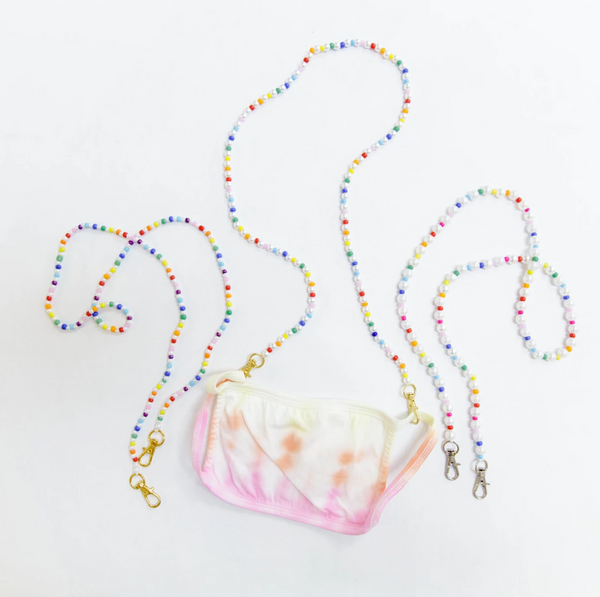 Rainbow Pearl Mask Chain
