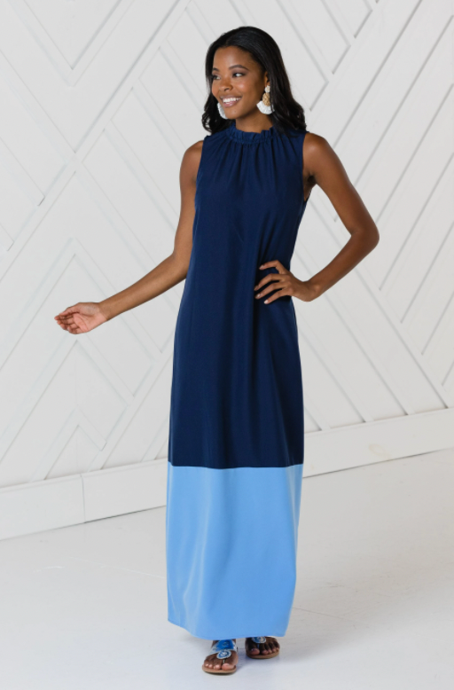 Sail to Sable Color Block Maxi Dress