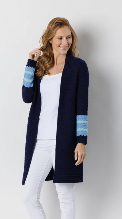 Sail to Sable Drape Front Cardigan