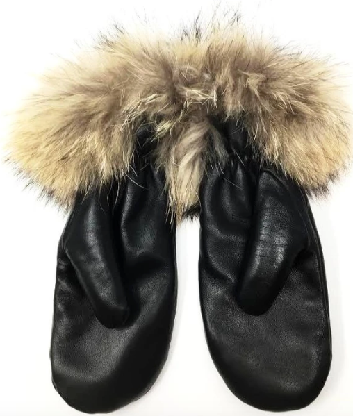 Mitchie's Leather & Fur Cuff Mittens