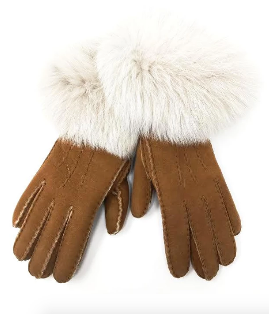 Mitchie's Matchings Sheepskin Gloves Sz 7