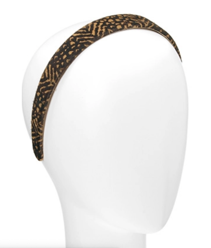 France Luxe 1in Jungle Mirage Hair Calf Headband