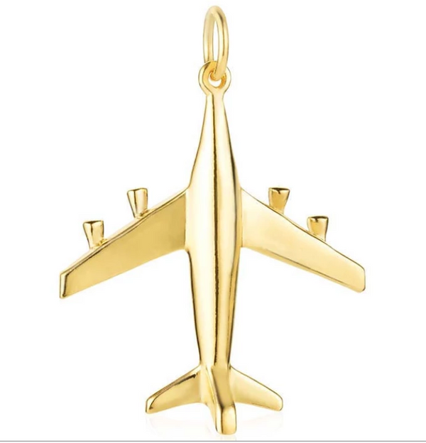 Jet Set Candy 14K Gold Plane Charm