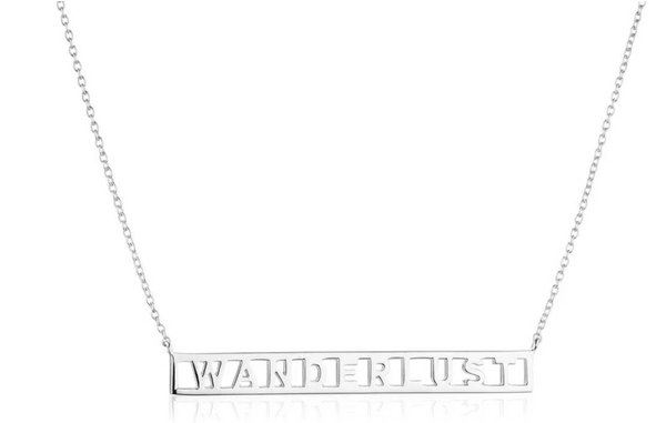 Jet Set Candy Sterling Silver Wanderlust Necklace