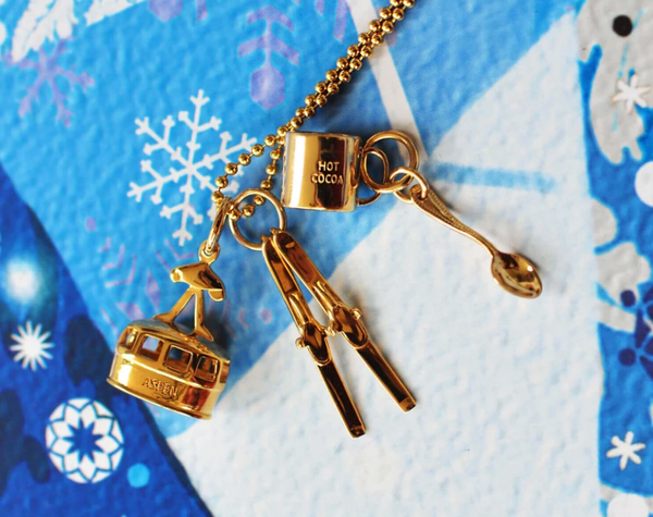 Jet Set Candy 14K Skis Charm