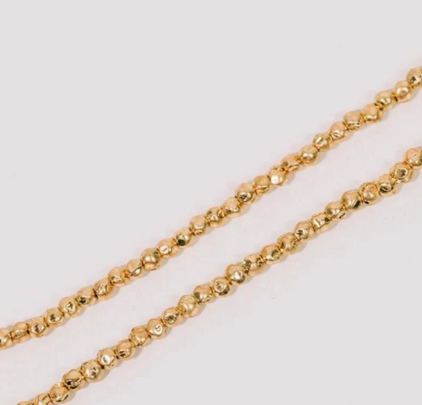Half United Gold Beaded Necklace