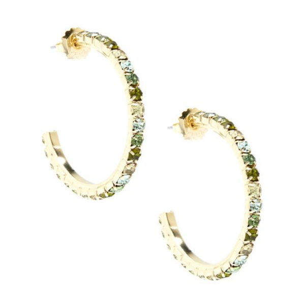 Zenzii Crystal Embellished C-Shaped Hoop