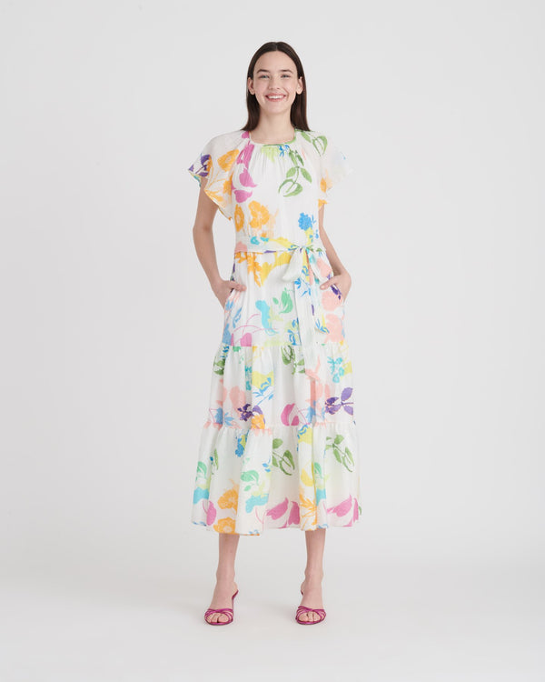 Tanya Taylor Ella Foral Midi Dress