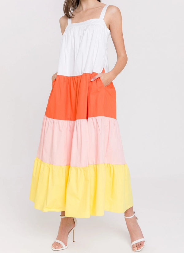 English Factory Tiered Maxi Dress