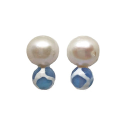 Meg Carter Big Pearl Earrings