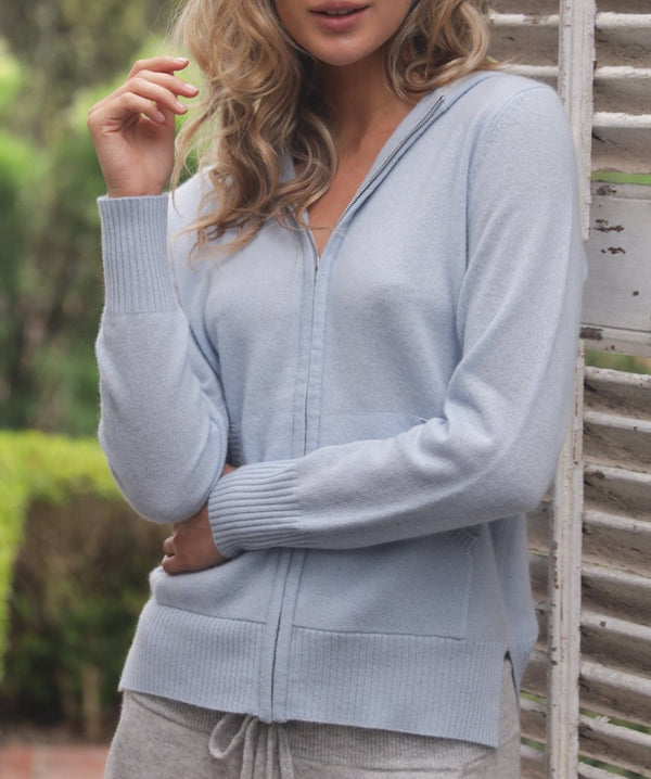 Oats Cashmere Dublin Too Zip Up Hoodie Sweater