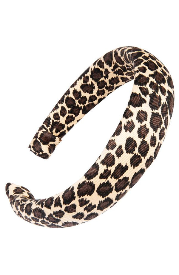 "1 1/2"" Padded Headband - Denim Leopard"