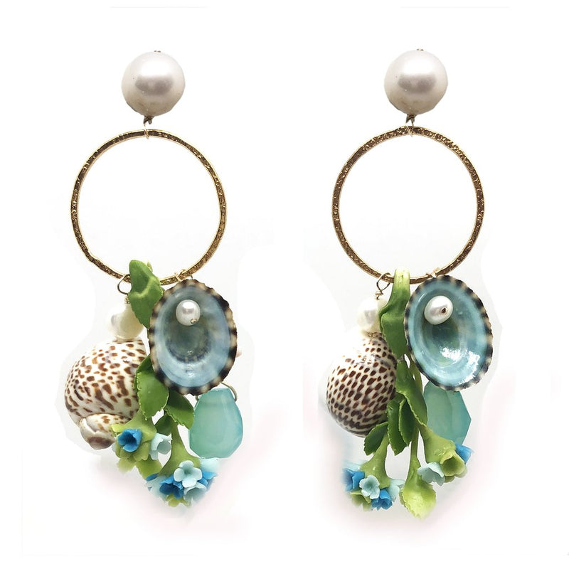 Meg Carter Hydrangea Earrings
