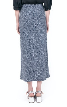 Waverly Grey Tara Printed Skirt - Navy/White
