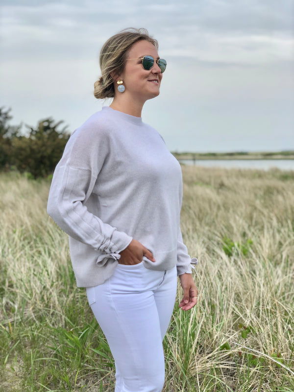 Cortland Park Bow Sleeve Sweater