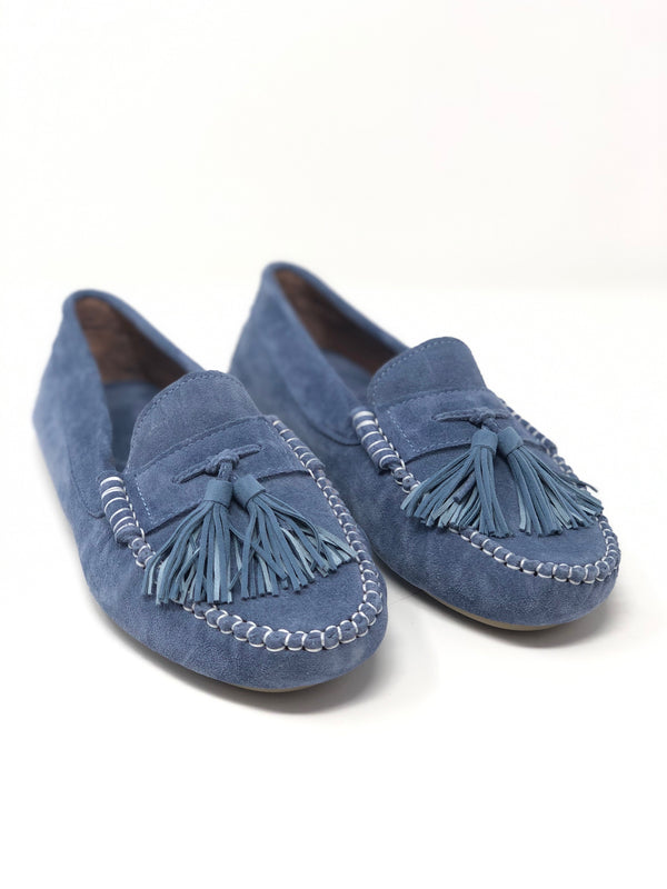 Homers Tassel Driving Shoe - Denim Blue