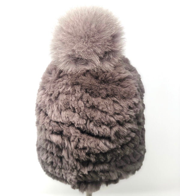 Mitchie's Knitted fur hat- Mocha
