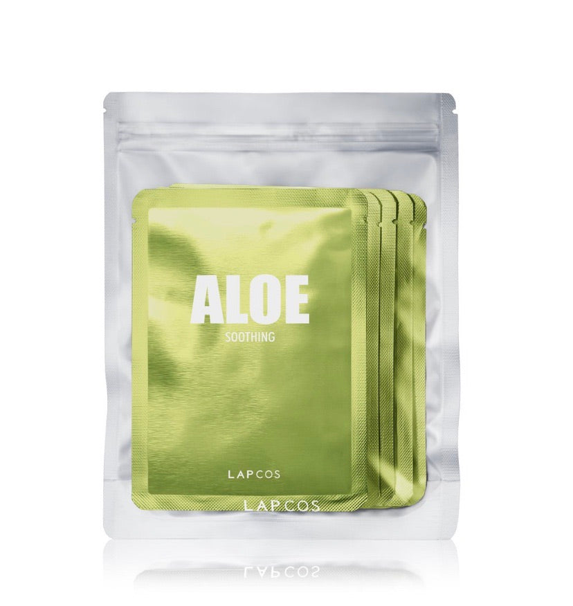 Lapcos 5pc Aloe Sheet Mask