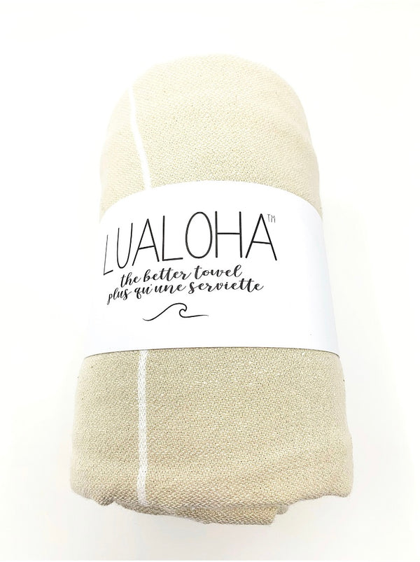 Lualoha Classic Collection  Sand Turkish Towel
