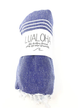 Lualoha Classic Collection  Navy Turkish Towel