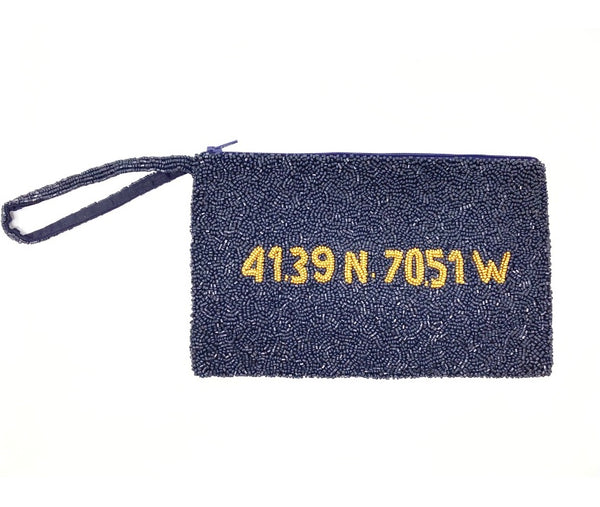 Moyna D. Navy/M.Gold(41.39 N, 70.51 W ) Raised Wristlet
