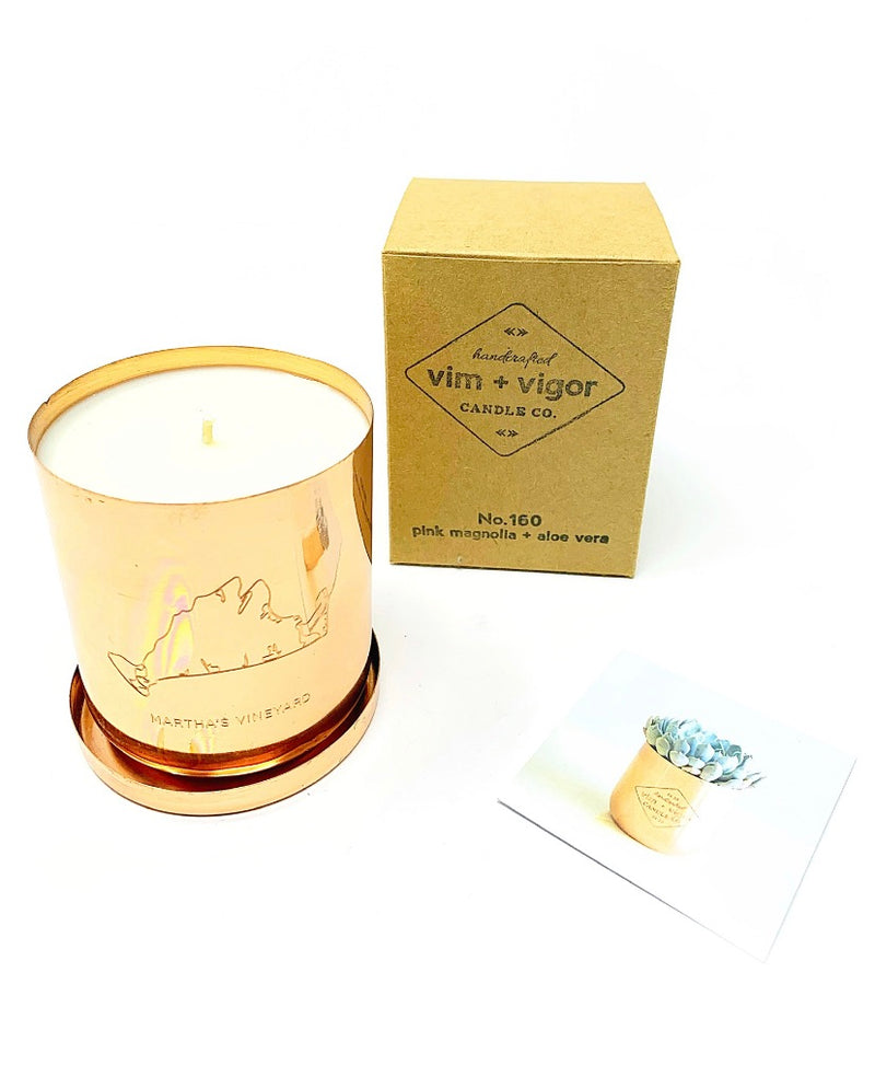 Vim + Vigor Green Tea & Lemongrass 8oz Candle