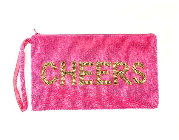 Moyna Coral/M.Gold (Cheers) Wristlet