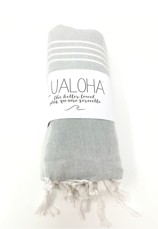 Lualoha Classic Collection  Light Grey Turkish Towel