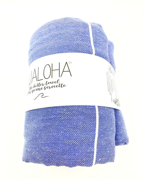 Lualoha Classic Denim Turkish Beach Blanket