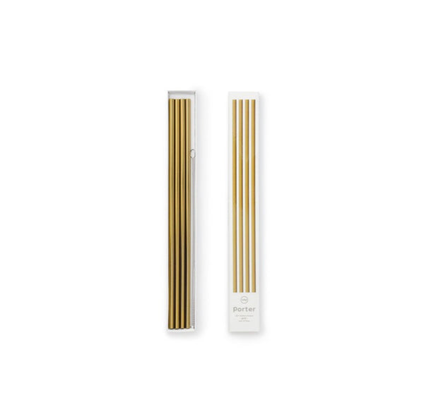 w&p Gold Metal Straws