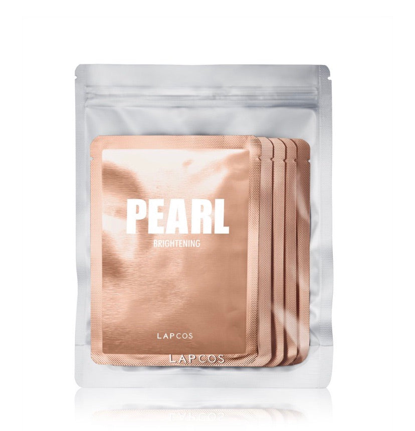 Lapcos 5pc Pearl Sheet Mask