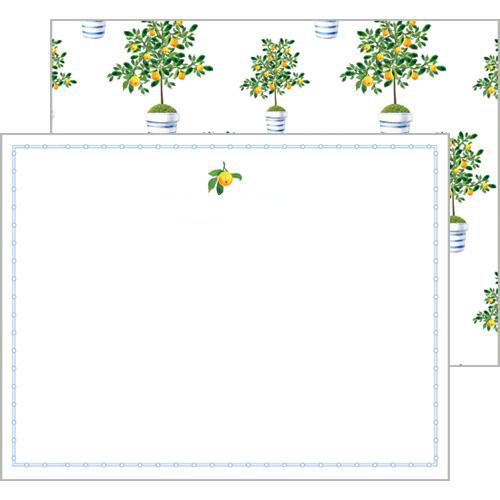 WH Hostess Lemontree Flat Notecards