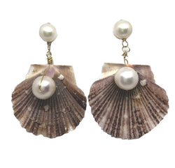 Meg Carter Scallop Shell Drop Earrings
