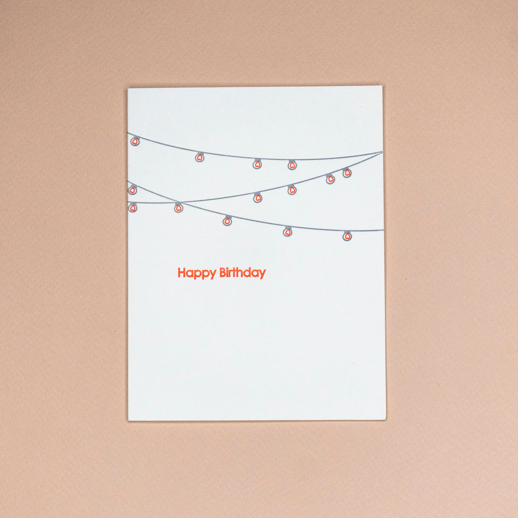 Lights Birthday Card