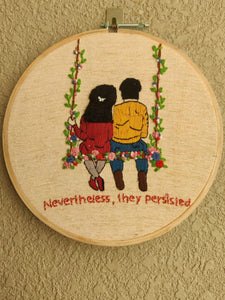 Couple Embroidered Hoop