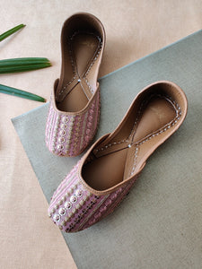 Hand Embroidered Sequence Work Juttis - The Tassle Life