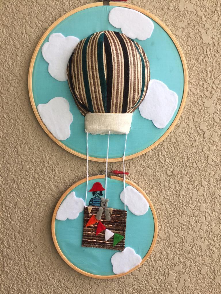 Parachute Embroidered Hoop - The Tassle Life