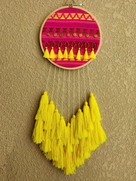 Embellished Coin & Tassels Dreamcatcher
