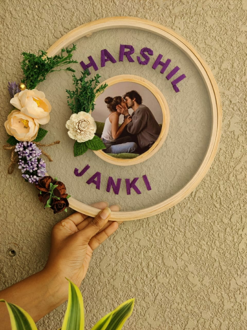 Customizable Net Embroidered Double Hoop