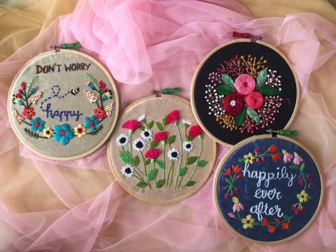 Embroidered Hoop (Set of 4)