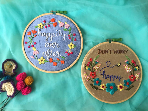 Embroidered Hoop (Set of 2)