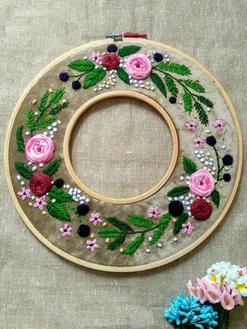 Double Hoop Embroidered Hoop
