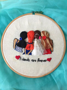 Best Friends Forever Embroidered Hoop - The Tassle Life