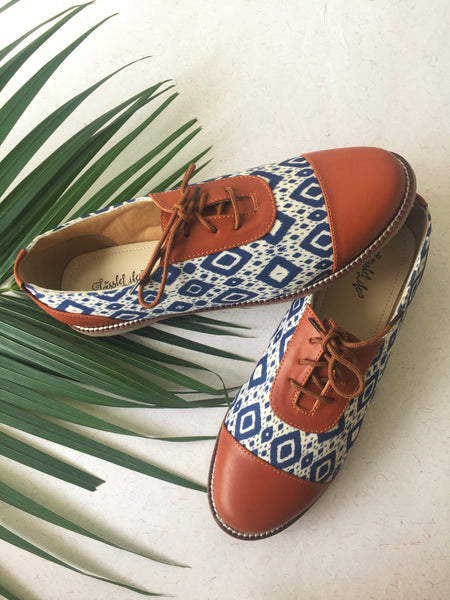 Oxfords - Chevron Ink Texture - The Tassle Life