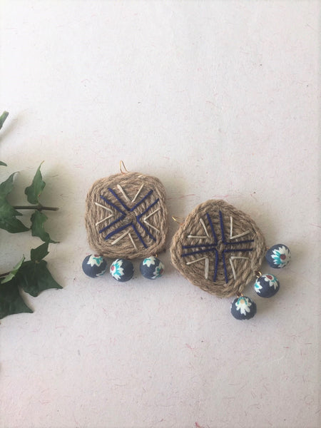 Square Shaped Jute Earrings - The Tassle Life