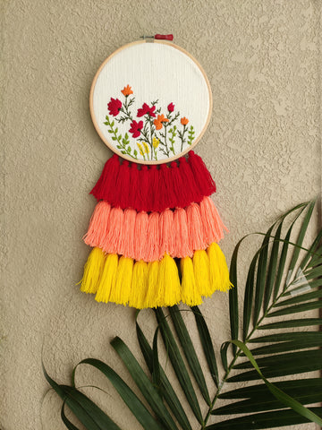 Floral Embroidered Dreamcatcher